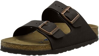 Birkenstock Arizona Soft Footbed - Leather (Unisex) Black Amalfi Leather 36 (US Women's 5-5.5) Regular