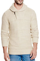 Guess Shawl Collar Zip-Front Sweater