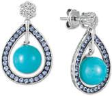 LeVian Le Vian Multi-Gemstone Teardrop Drop Earrings (14-3/4 ct. t.w.) in 14k White Gold