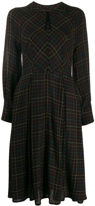 Talbot Runhof Fitted Pleated Dress