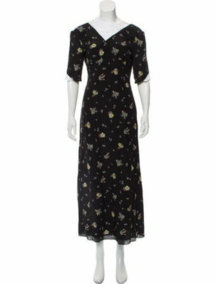 Creatures of the Wind Abstract Print Maxi Dress w/ Tags Black
