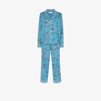 Desmond & Dempsey Bocas printed cotton pyjama set