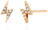 Ef Collection Diamond Mini Lightening Bolt Earrings