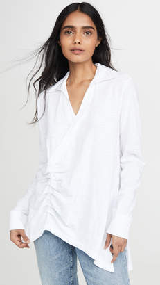 Wilt Ruched Collared Tee
