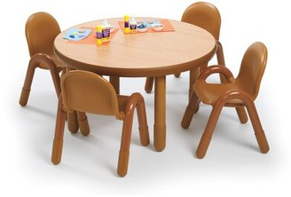 Angeles Baseline Preschool Kids 5 Piece Writing Table and Chair Set