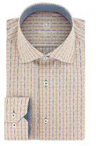 Bugatchi Men's Trim Fit Grid Check Dress Shirt
