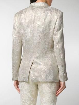 Comme des Garcons Floral Patterned Buttoned Blazer
