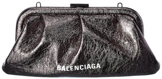 Balenciaga Cloud Xs Leather Clutch