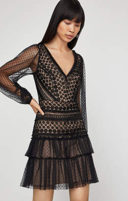 BCBGMAXAZRIA Circle Lace Cocktail Dress