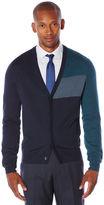 Perry Ellis Colorblock Cardigan Sweater