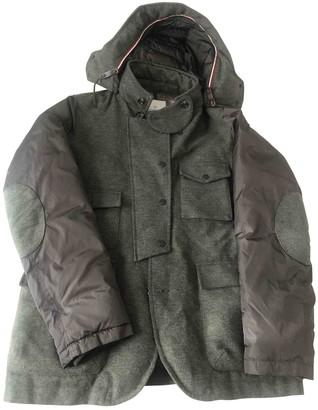 Moncler Hood Green Wool Coats