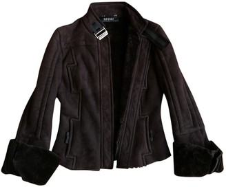 Gucci Brown Leather Coat for Women