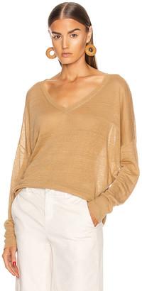 Nili Lotan Ginny Linen Sweater in Jute | FWRD