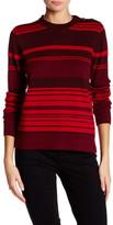 Anne Klein Striped Button Sweater