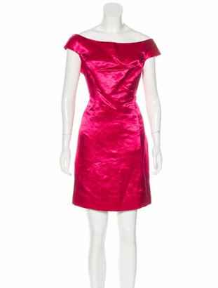 Christian Dior Scoop Neck Mini Dress Pink