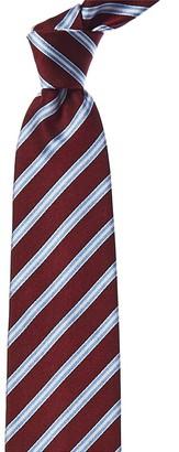 E.Zegna Ermenegildo Zegna Red & Blue Stripe Silk Tie
