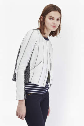 French Connection Riviera Collarless Tweed Jacket