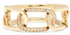 Raphaele Canot Links Diamond & 18kt Gold Ring - Yellow Gold