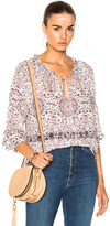 L'Agence Crawford Top in Floral,Purple,White.