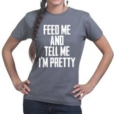 Customised Perfection Feed Me and Tell Me I'm Pretty Funny Womens Ladies T Shirt