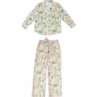 Phriya Women's Pink Circe's Garden Long Pajama Set