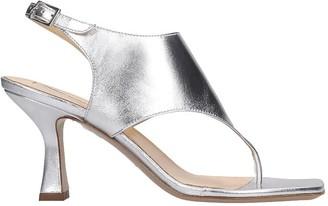 Fabio Rusconi Sandals In Silver Leather