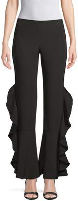 Supply & Demand Flared Ruffled Pants