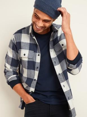 Old Navy Regular-Fit Built-In Flex Patterned Flannel Shirt for Men