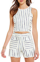 Lucy Paris Striped Tweed Slub Top