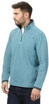 Mantaray Big And Tall Blue Pique Zip Neck Sweater