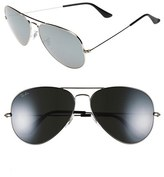 Ray-Ban Men's 62Mm Aviator Sunglasses - Silver/ Dark Grey Mirror