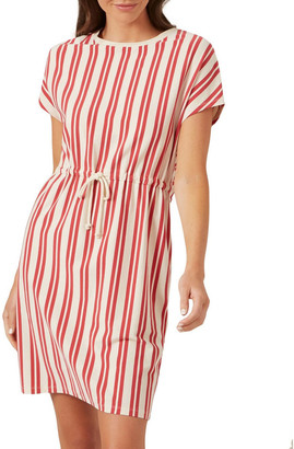 French Connection Stripe Tie Up Jersey Dress