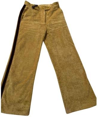 Valextra Moncler Genius Moncler n2 1952 + Yellow Velvet Trousers