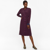 Paul Smith Women's Damson Textured Silk-Blend Travel Dress