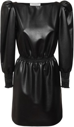 Philosophy di Lorenzo Serafini Faux Leather Mini Dress