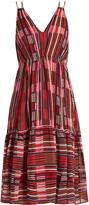 Apiece Apart Daphne Borderlines-print silk dress