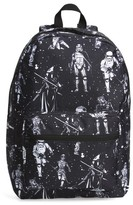 Star Wars Boy's The Force Awakens Black & White Space Backpack - Black