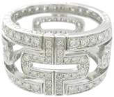 Bulgari 18K White Gold Diamond Parentesi Ring Size 5.25