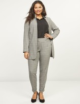 Lane Bryant Allie Tailored Stretch Straight Ankle Pant - Plaid