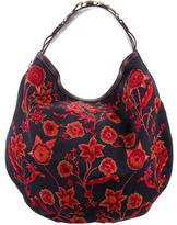 Gucci Floral Embroidered Wave Hobo