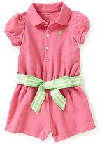 Ralph Lauren Baby Girls 3-24 Months Belted Romper