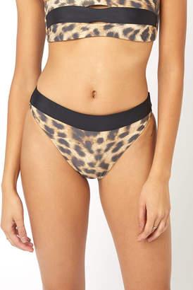 Pq Swim PQ Swim Jungle Hi Waist Leopard Bikini Bottom Multi S