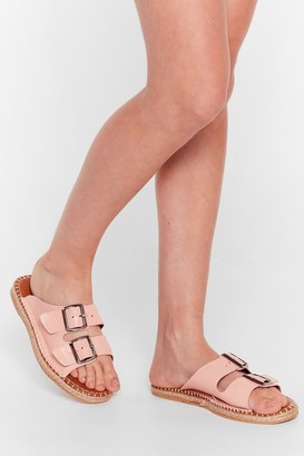 Nasty Gal Womens You Know the Espadrille Faux Leather Sandals - Pink