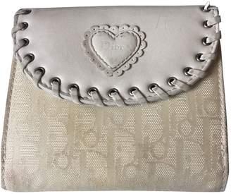 Christian Dior Ecru Leather Wallets