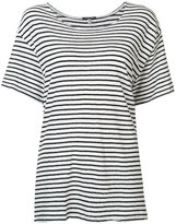 R 13 striped T-shirt - women - Cotton - S