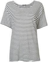 R 13 striped T-shirt - women - Cotton - XS