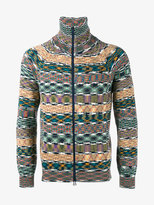 Missoni printed zipped cardigan - men - Cotton - M