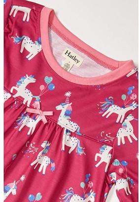 Hatley Party Horses Long Sleeve Nightdress (Toddler/Little Kids/Big Kids) (Pink) Girl's Pajama