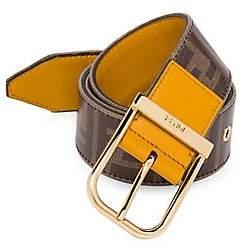 Fendi Men's FF Vetrificato Logo Belt