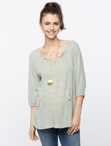 A Pea in the Pod Beaded Maternity Blouse